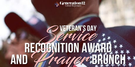 Veteran's Day Service Recognition Award and Prayer Brunch tickets