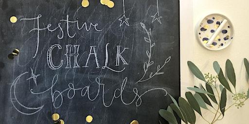 Festive Chalk Board Lettering