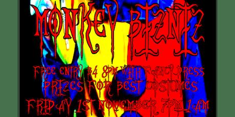 Monkey Bizniz Halloween 1st Nov tickets