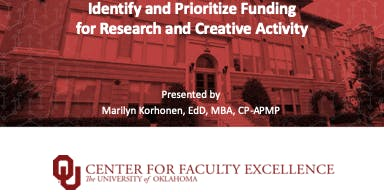 Brownbag Workshop: Finding and Prioritizing Funding - General Audience