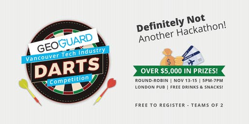 GeoGuard Inaugural Tech Industry Darts Competition!