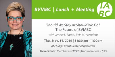 Should We Stay or Should We Go? The Future of BVIABC with Jennie L. Lamb