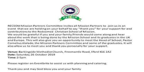 RECSOM Mission Partners Conference tickets