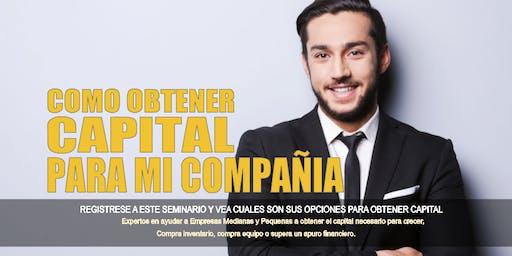 Como Obtener Capital Para Su Compañía o Negocio - New York NY