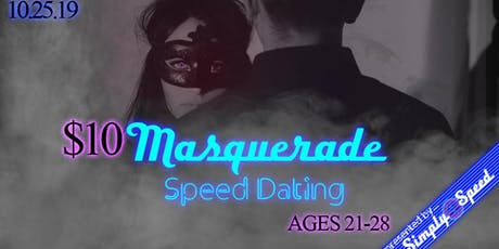 $10 Atlanta Halloween Masquerade Speed Dating | AGES 21-28 | Singles Event tickets
