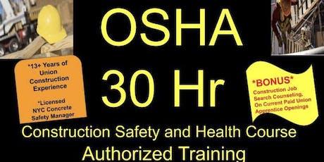 Brooklyn Authorized OSHA 30 and Construction Career Coaching tickets