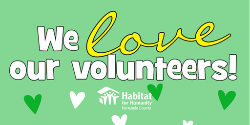 Habitat Hernando Volunteer Appreciation Day
