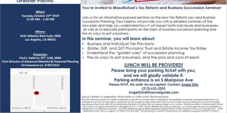 MassMutual's Lunch and Learn (Estate, Retirement, Tax Planning Seminar) tickets