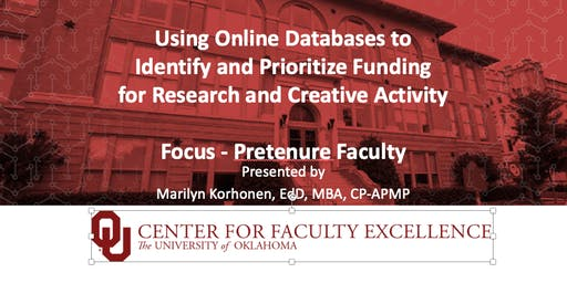 Center for Faculty Excellence: Finding  Funding - Tenured Faculty