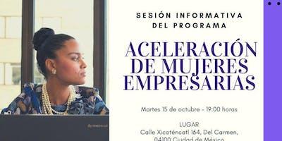 Sesión Informativa - Programa Aceleración de Mujeres Empresarias