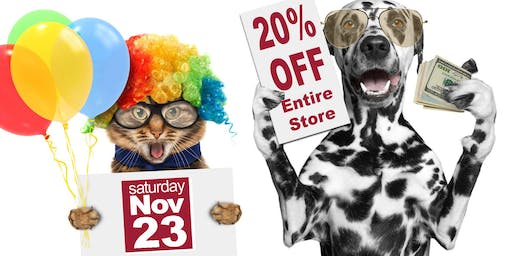 Huge Pet Supply SALE & Anniversary Celebration