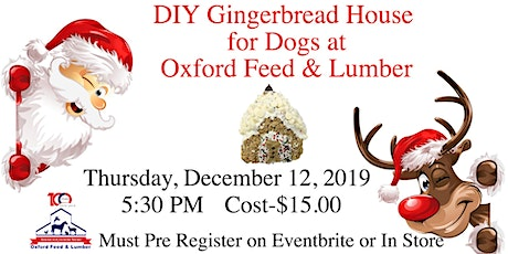DIY Gingerbread House for Dogs tickets