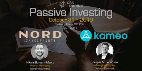 Passive Investing // NORD.investments & Kameo tickets