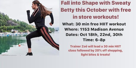 Free In-Store Workout Class tickets