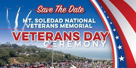 Mt Soledad National Veterans Memorial, Veterans Day honoring Kenton Stacy tickets