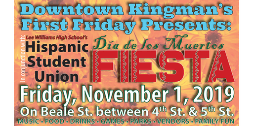 Downtown Kingman's First Friday - Día de los Muertos