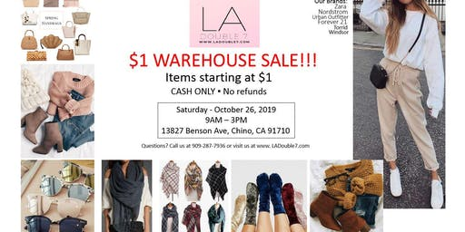 $1 WAREHOUSE SALES - Nordstrom/Urban Outfitter/ Forever 21