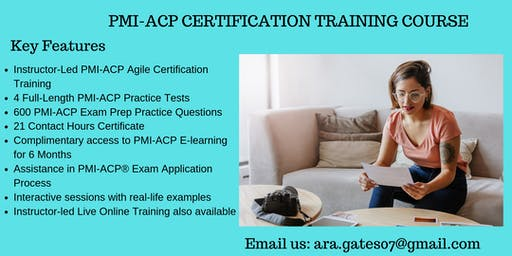 PMI-ACP Exam Prep Course in Applegate, CA