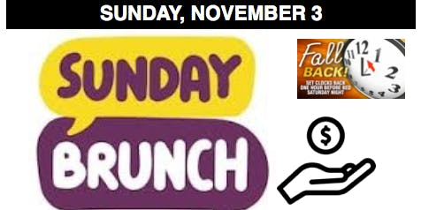Sunday Brunch Missions Fundraiser (youth ministry)