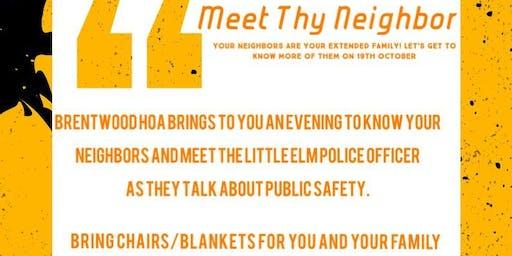 Meet Thy Neighbor!