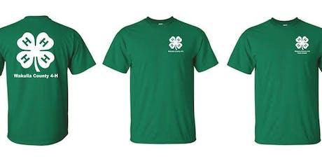 Wakulla 4-H T-Shirt  Order Event tickets