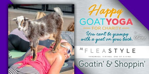 Happy Goat Yoga-For Charity at Flea Style