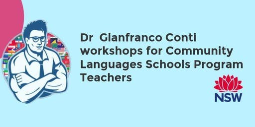 Workshop 2 with Dr Gianfranco Conti for community languages teachers