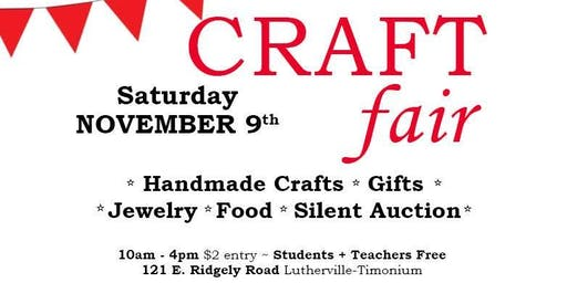 Ridgley Middle School PTA 38th Annual Craft Fair and Silent Auction