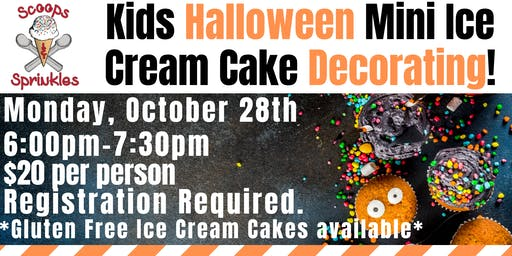 Kids Halloween Mini Cake Decorating Night