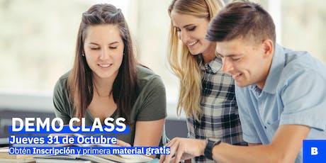 Demo Class Inglés para adultos (100% conversacional) boletos