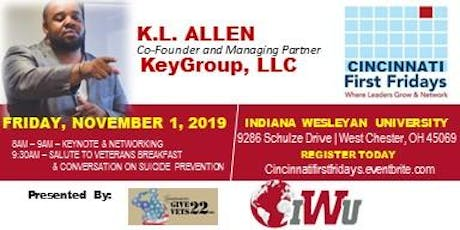 Cincinnati First Fridays with KL Allen (Veteran & Entrepreneur) tickets