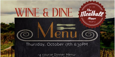 Wine and Dine at The Meatball Stoppe tickets