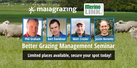 Better Grazing Management Seminar - MerinoLink & MaiaGrazing tickets