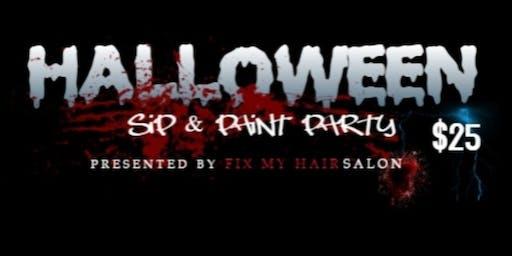 FIX MY HAIR SALON HALLOWEEN SIP & PAINT PARTY