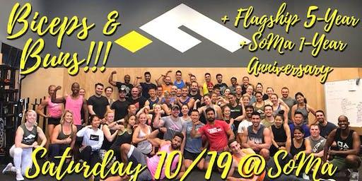 Flagship Biceps & Buns plus Anniversary Celebration!