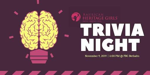 Trivia Fundraiser American Heritage Girls