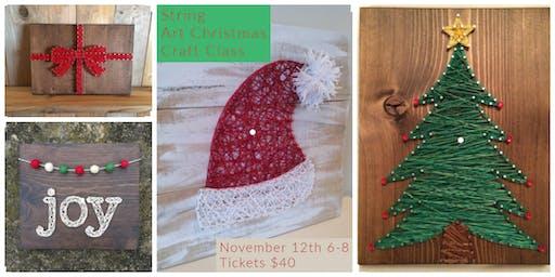 Lock and Key String Art Presents: Christmas Craft Class