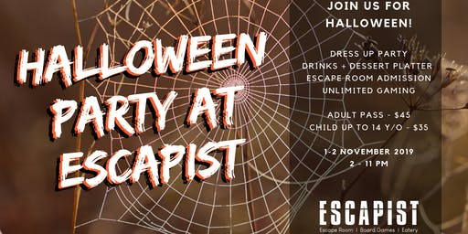 Halloween Party at Escapist