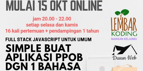 Simple Buat PPOB dengan 1 Bahasa (Online Bootcamp) tickets