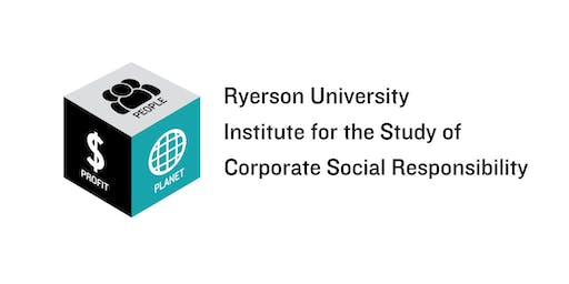 Ryerson CSR Institute: Sustainability Reporting-Evolving Landscape-Oct 25, 3:30pm - 5:30pm