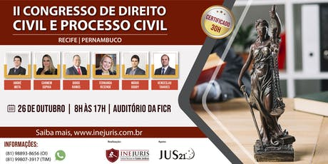 II Congresso de Direito Civil e Processo Civil  ingressos