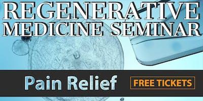FREE Regenerative Medicine & Stem Cell for Pain Relief Dinner Seminar - Orange County / Tustin, CA