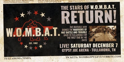 W.O.M.B.A.T. returns to Tullahoma!
