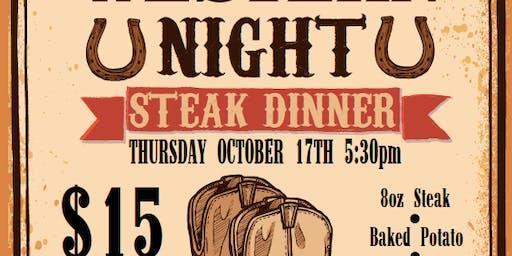 Western Steak Night