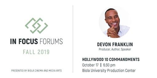 In Focus Forum: DeVon Franklin, Hollywood 10 Commandments