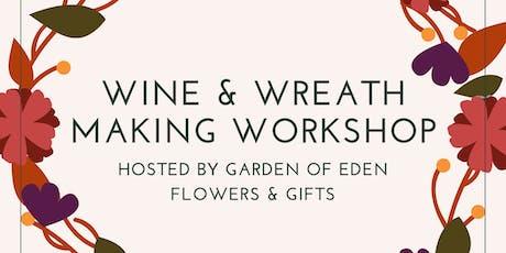 Wine & Autumn Wreath Workshop tickets