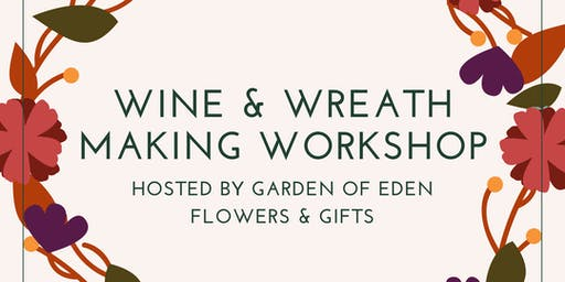 Wine & Autumn Wreath Workshop