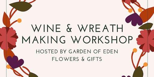 Wine & Autumn Wreath Workshop