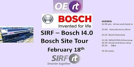 SIRF Industry4.0 at Bosch & Bosch Clayton Site Tour tickets