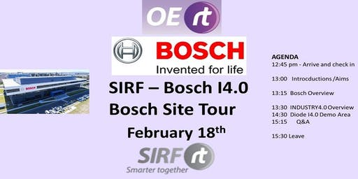 SIRF Industry4.0 at Bosch & Bosch Clayton Site Tour